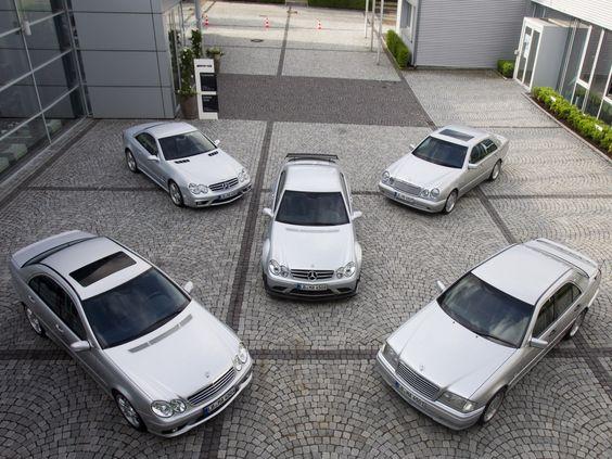 Mercedes benz amg line up clk dtm amg e55 c55 for Mercedes benz line up