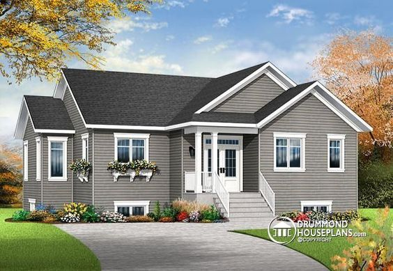 W3133 v4 affordable 4 bedroom bungalow large master for Affordable 5 bedroom house plans
