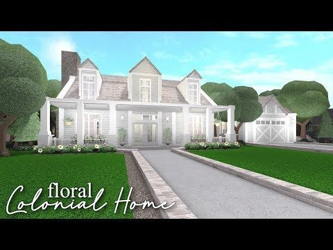 Bloxburg Floral Colonial Home Youtube In 2020 Colonial House Two Story House Design My House Plans