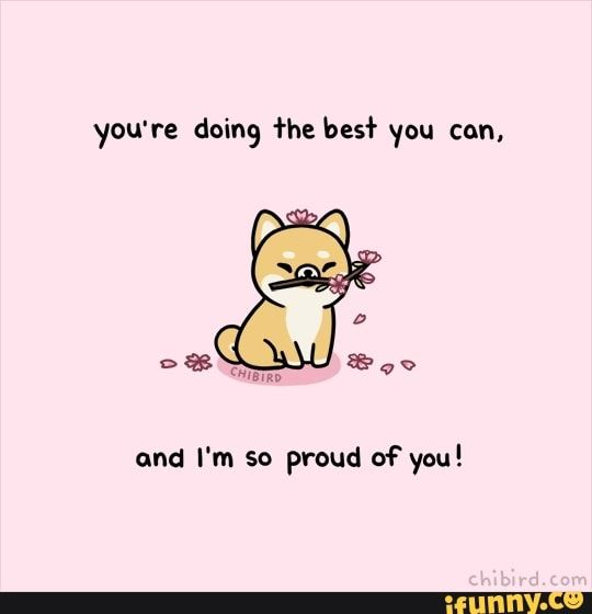You Re Doing He Bes R You Can And I M So Proud Of You Ifunny Cute Inspirational Quotes Cheer Up Quotes Cute Quotes
