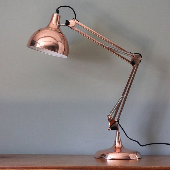 Notonthehighstreet.com. (n.d.). The Forest & Co. - Copper Adjustable Table Lamp. [Online]. Available from: http://www.notonthehighstreet.com/theforestandco/product/copper-adjustable-table-lamp [Accessed: 28 May 2014] £65 + free delivery,dimensions: 40 x 15 cm x 20 cm