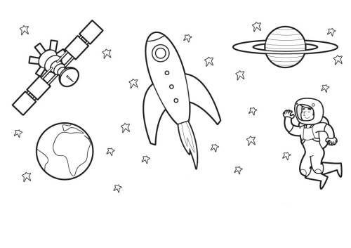 Ausserirdische Und Das Weltall Astronauten Im Weltall Ausmalen Zum Ausmalen Weltall Weltraum Ausmalen