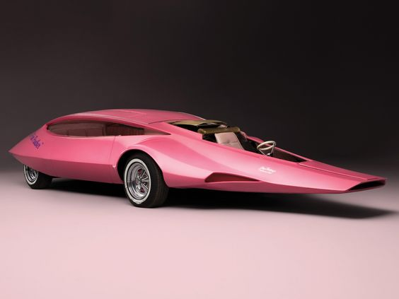 Pink Panther Car '1969....... Umm....Its pretty? I like the pink color not sure about the shape tho