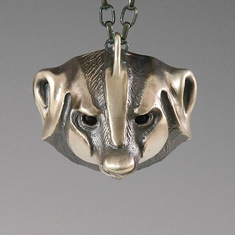 Badger  Jewelry, Wildlife Jewelry for the Animal Lover, Badger Pendant