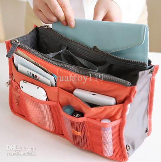 2016 travel Insert bags organizers women purse Storage Bags ...