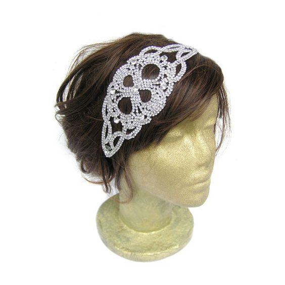 Rhinestone Headband Rhinestone Wedding Headpiece by curtainroad