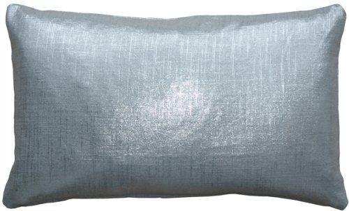 Pillow Decor Tuscany Linen Silver Metallic 12x20 Throw Pillow Throw Pillows Pillows Sequin Throw Pillows