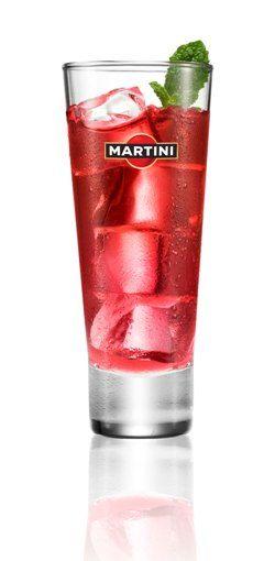 cocktail MARTINI® Rosato Melograno  au jus de grenade.