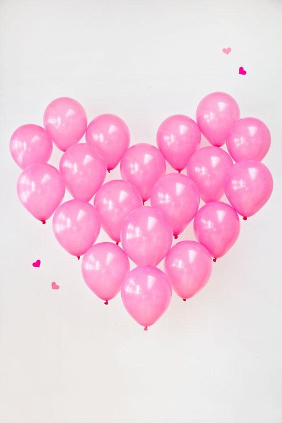 heart made from balloons