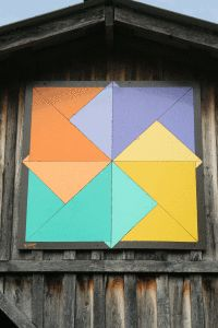 Steve made this barn quilt for my mom in March 2011.