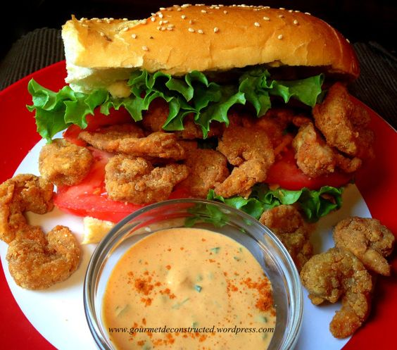 Shrimp Po' Boy w/Spicy Remoulade Sauce | Gourmet De-Constructed - pinned for the sauce