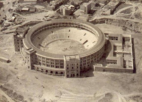 Madrid- Plaza de Toros de las Ventas a punto de terminar su construcción, 1929…