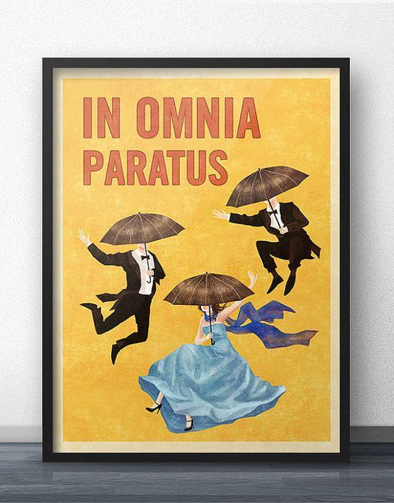 In Omnia Paratus Poster - Vintage-Retro-Stil - inspiriert von Gilmore Girls