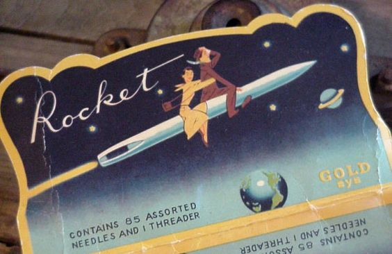 Vintage Sewing Needle Book Rocket Made in Japan by ITSYOURCOUNTRY,