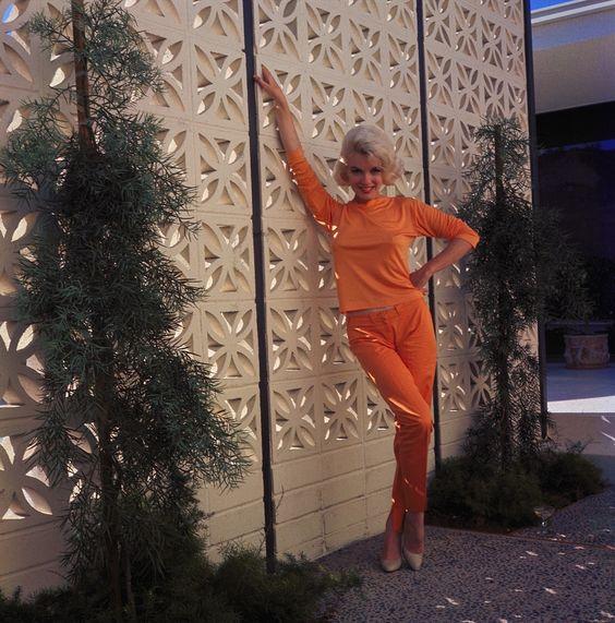 Marilyn Monroe and that orange suit