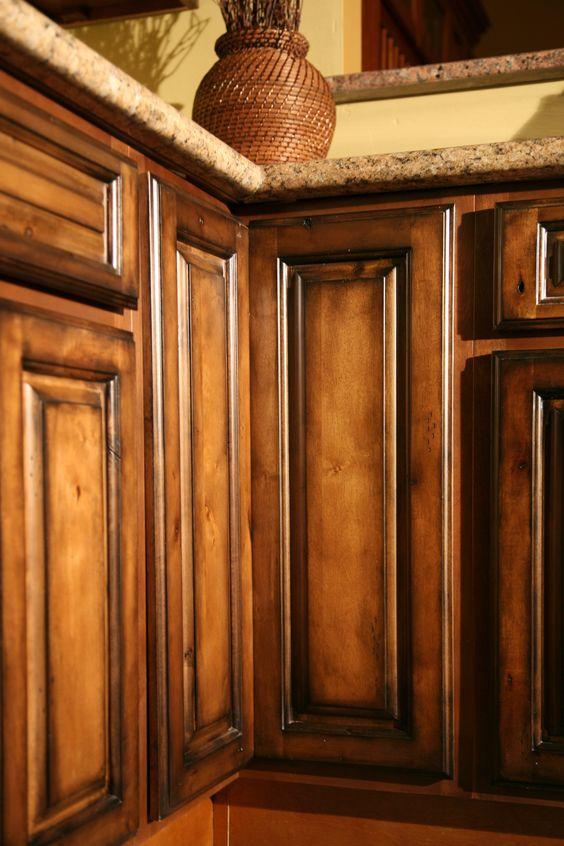 Pecan Maple Glaze Kitchen Cabinets, Rustic Finish- Sample Door-RTA ...
