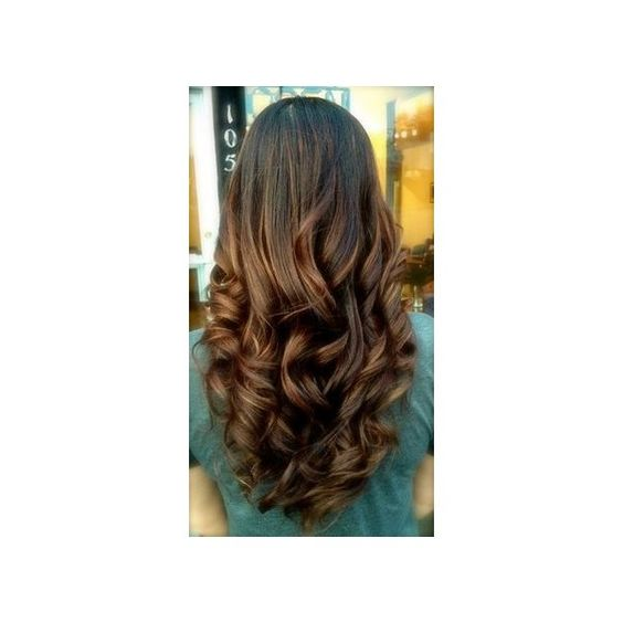 Caramel Highlights ❤ liked on Polyvore featuring beauty products, haircare and hair