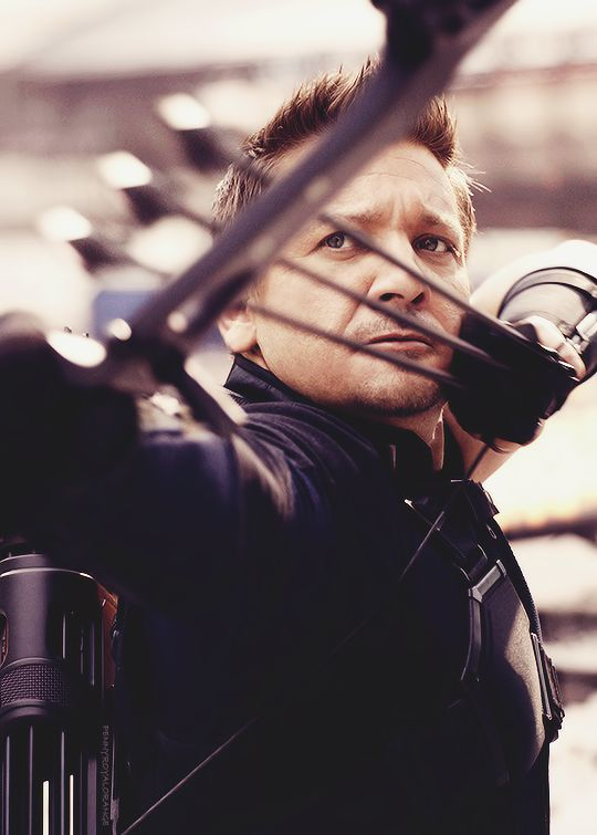 """Hawkeye in """"Civil War"""" - No one will be as cool as Hawkeye. <<<in Robin Hood men in tights, Robin shot 6 arrows at once but Hawkeye did it under pressure so whatevs..."""
