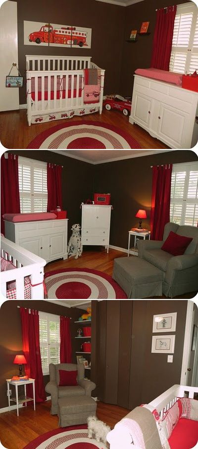 Fire Truck-Themed Nursery   Shared by LION