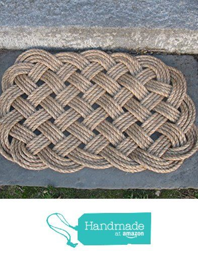 Nautical Manila Rope Door Mat 4 Pass Square from Mystic Knotwork http://smile.amazon.com/dp/B016J8FUHE/ref=hnd_sw_r_pi_dp_p1Ouwb14TVJ15 #handmadeatamazon