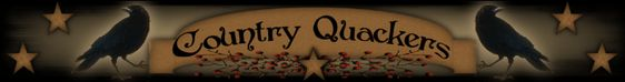 Country Quackers Primitives-Primitive Country Home Decor and so much more