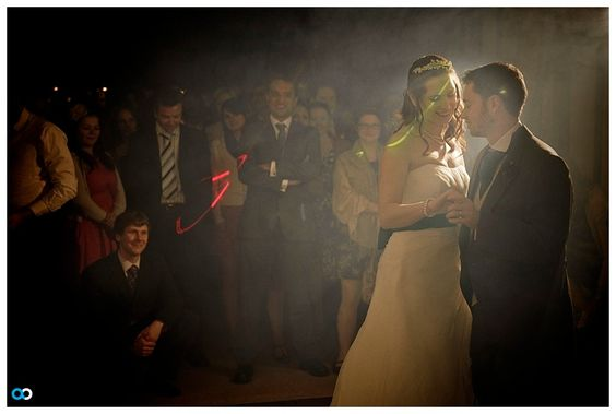 Thinking of having your DJ provide 'lasers' at your wedding? Tell your DJ 'no thanks' because you'd like to have wedding photos without colorful streaks.