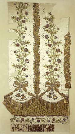 Fragment of Marie Antoinette's court dress' petticoat: 1780 Museum of London: