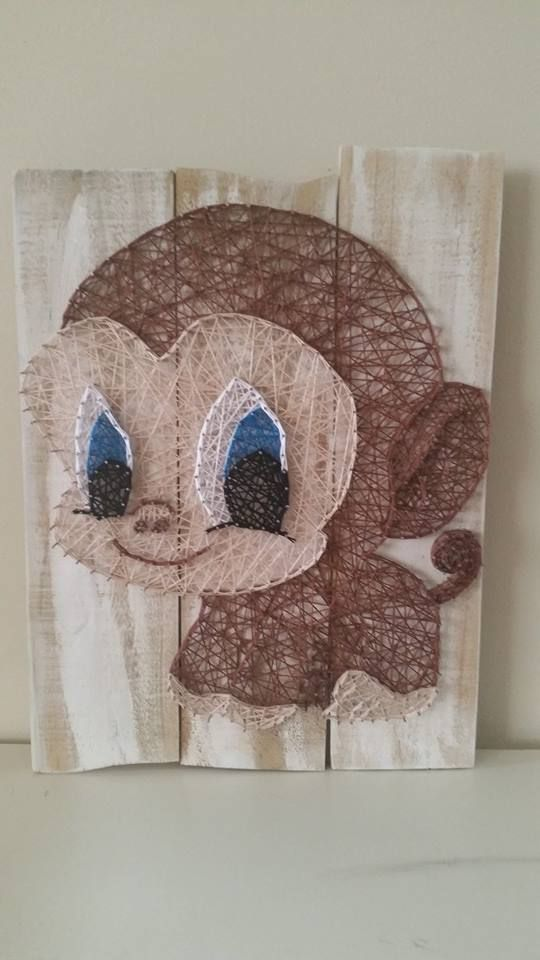 Big Eyes Monkey String Art Check Us Out On Facebook At