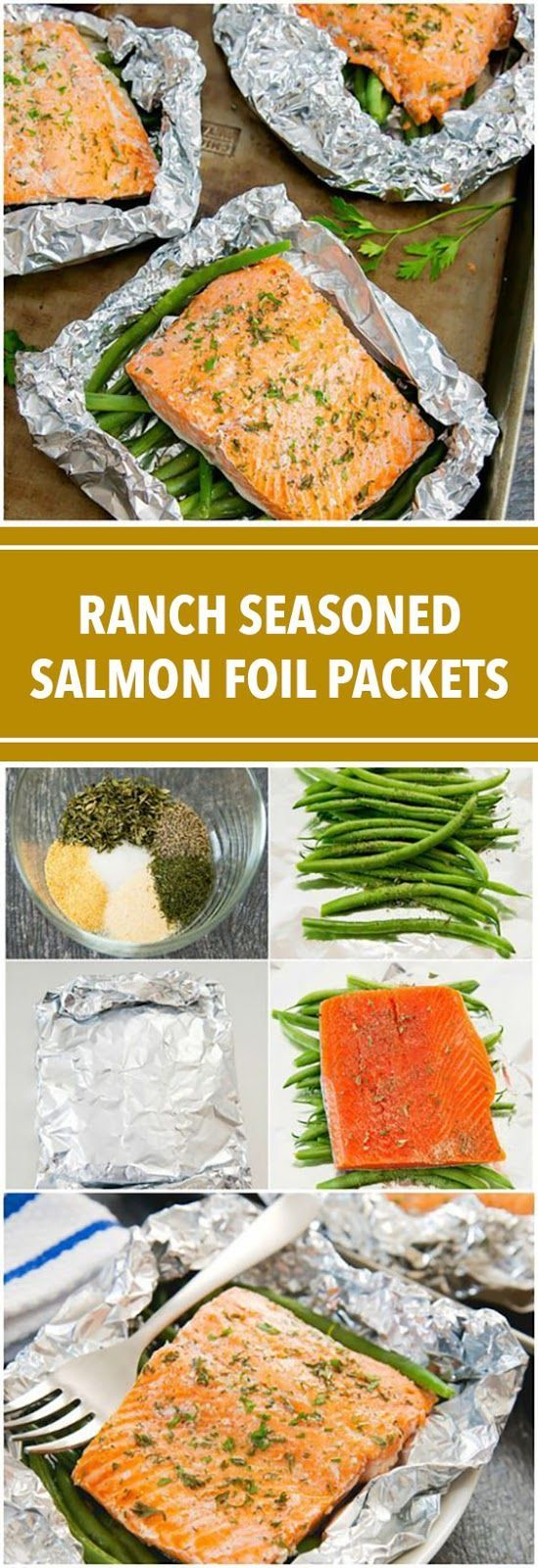 Ranch Seasoned Salmon Foil Packets
