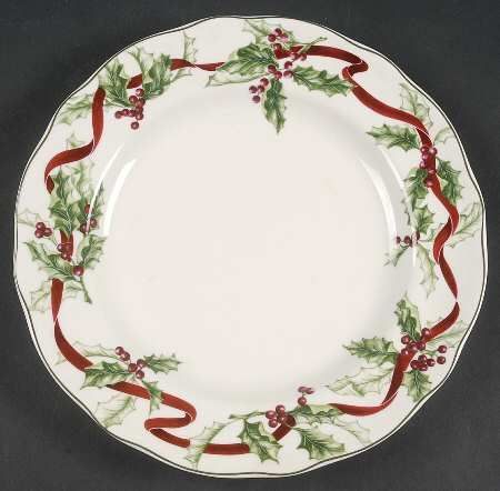 Charter Club Winter Garland at Replacements, Ltd. Dinner plate $20. Need 3.
