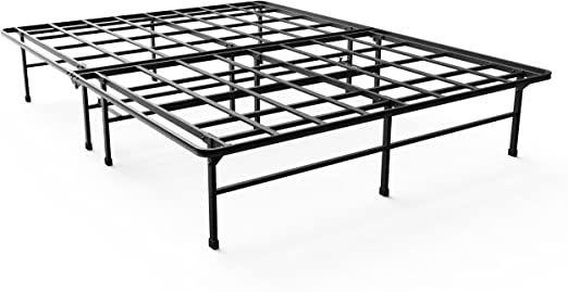 Zinus Demetric 14 Inch Elite Smartbase Mattress Foundation For Big And Tall Extra Strong Support Platform B Adjustable Bed Frame Zinus Platform Bed Frame