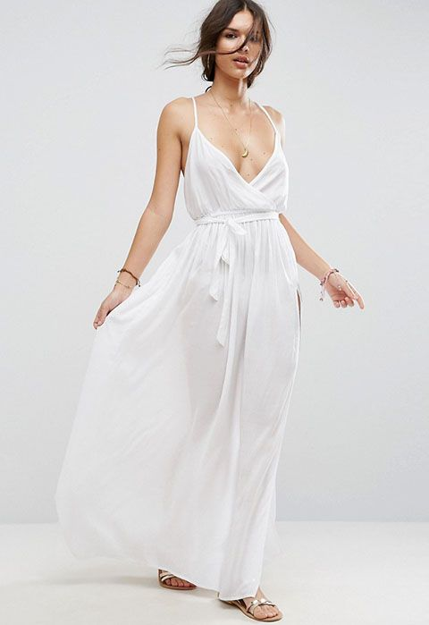 ASOS Woven Wrap Maxi Beach Dress