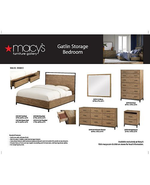 Furniture Gatlin Storage Platform Bedroom Furniture Collection Created For Macy S Reviews Furniture Macy S Platform Bedroom Bedroom Collections Furniture Bedroom Furniture