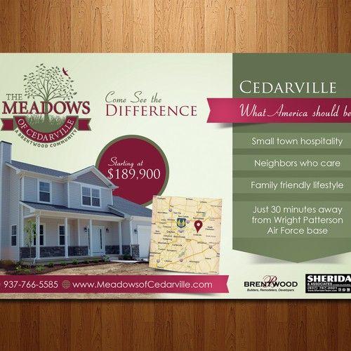 New Custom Home Development Ad To Local Military Base Postcard Flyer Or Print Contest Design Post Custom Homes Home Improvement Companies Custom Home Builders