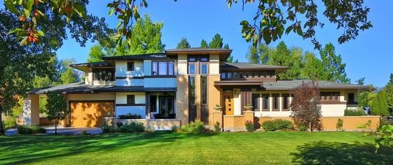 An ode to Frank Lloyd Wright ~ inspired by...I wouldn't mind living here!