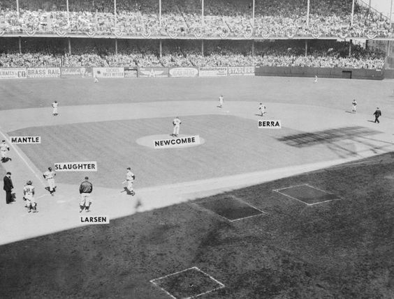 Yankees Playing on Ebbets Field - October 5, 1956
