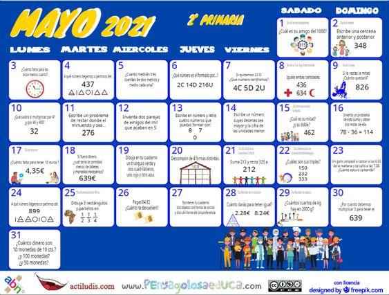 Calendario Segundo ABN – Mayo 2021