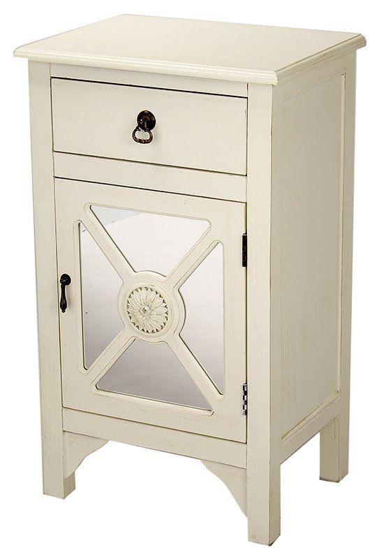 Corena Wooden Accent Cabinet Wooden Cabinets Single Doors Wood Mirror