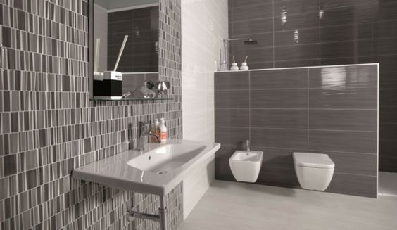 badezimmer fliesen graunuancen wei e sanit robjekte badezimmer ideen fliesen leuchten. Black Bedroom Furniture Sets. Home Design Ideas