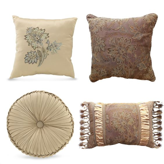 Decorative Pillow Placement On Bed : throw pillows for bed Croscill Marcella Decorative Pillows Decorative Pillows Pillow ...