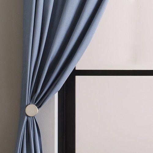 Metal Pin Holdbacks Modern Curtain Poles West Elm Modern