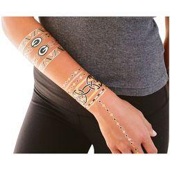 Women's Green Bay Packers Lulu DK Metallic Fashion Tattoos ...