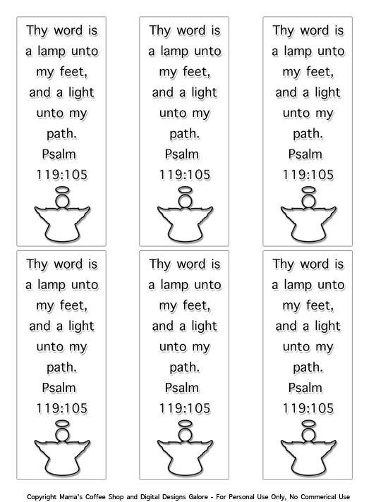 Free PDF Download Psalm 119105 Bookmarks