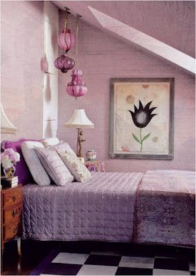 I've always loved purple.  I'd love this as a guest room.