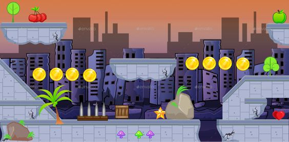 Destroyed City Game Platformer Tilesets 19 Ad Game Affiliate City Destroyed Tilesets City Games Platform Game Game Background