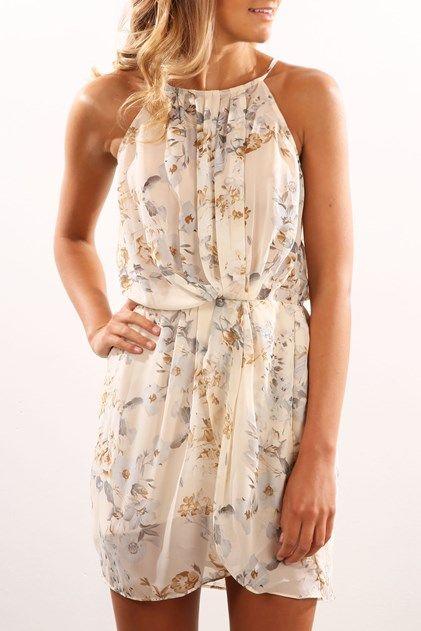 Trendy Beige Summer Dresses