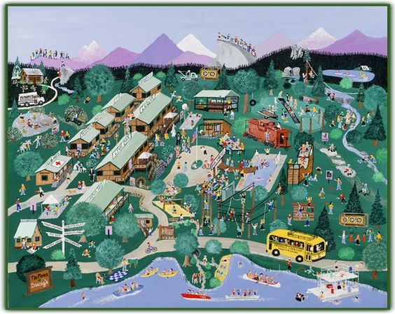 Yosemite Sierra Summer Camp Camp Map arca – Yosemite Tourist Map