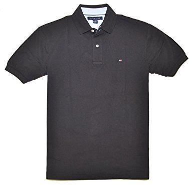 Tommy Hilfiger Classic Fit Men Polo T-shirt Black
