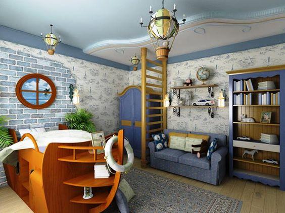 ... chambre chambre enfant thème marin voyages idées enfants chambres