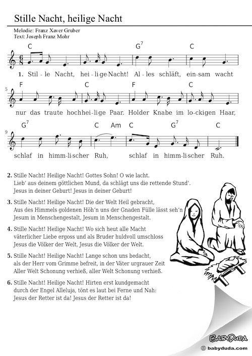 Stille Nacht Heilige Nacht Babyduda Weihnachtslieder